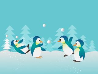 playing penguin