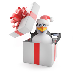 Surprise! Its Santa Penguin!
