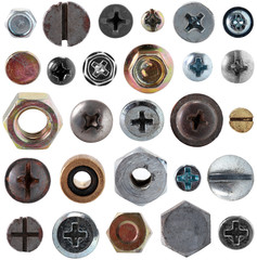 Screws head nut bolt collection set
