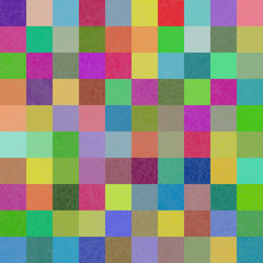 Multi-color squares mosaic background