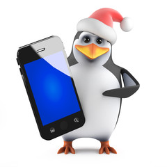 Santa Penguin has a new smartphone