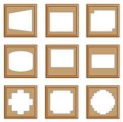 modern style of wooden frames