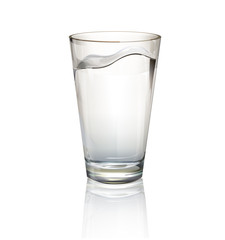Realistic water glass.