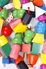 Colorful wooden beads toy