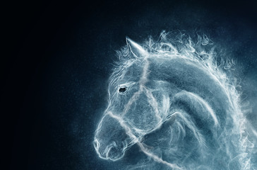 horse from a smoke
