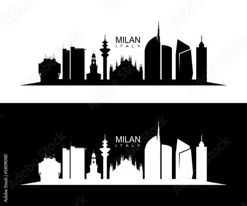 Wall mural Milan skyline
