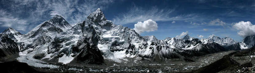 Panorama mountains Everest and Lhotse Wall mural