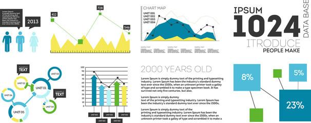 Vector Set elements of infographics