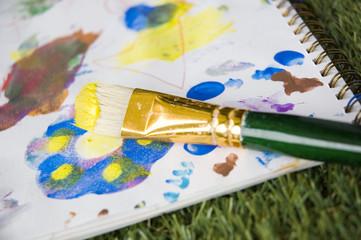paintbrush on paper