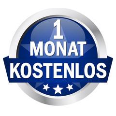 """Button mit Banner """" 1 MONAT KOSTENLOS """""""