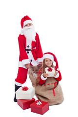 Santa with surprise present