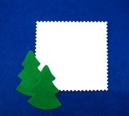 Felt frame with a Christmas trees
