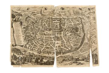 Antique Map - Old Dutch - Jerusalem