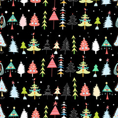 Christmas texture with Christmas trees