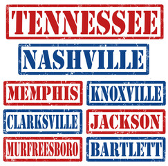 Tennessee Cities stamps