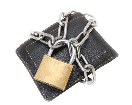 financial security, locked wallet