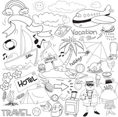 travel doodle