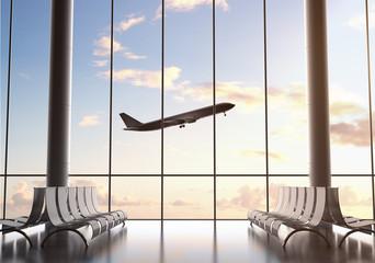 Fotobehang - airport interior