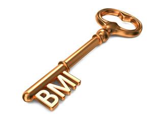 BMI - Golden Key. Health Concept.