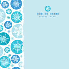 vector round snowflakes square torn seamless pattern background