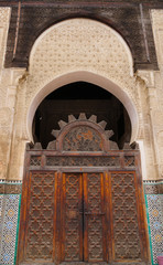 The Bou Inania Madrasa  in the old medina of Fes, Morocco