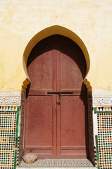 Doorway at the Mausoleum of Moulay Ismail in Meknes