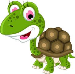Cute turtle posing