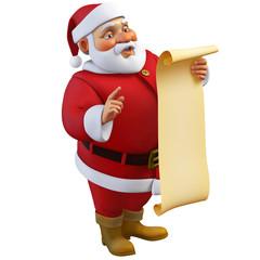 Recess Fitting Sweet Monsters 3d cartoon santa holding a roll