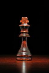 Illuminated wooden king chess piece