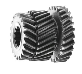 Differential gears isolated on white background