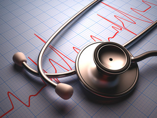 Stethoscope. Clipping path included.