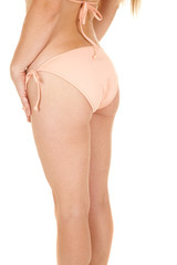 Woman bikini ruffles back