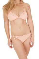 Woman bikini ruffles body