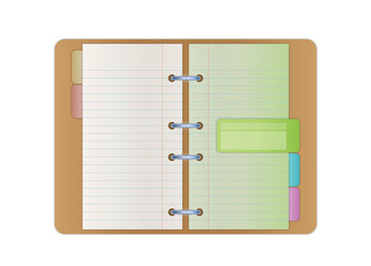 opened notebook