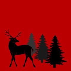 Weihnachtliche Szene mit Rentier