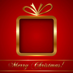 Christmas Greeting Card with Gift