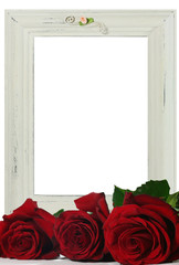 old frame and roses