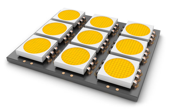 LED panel, close-up