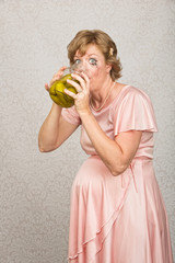 Thirsty Pregnant Woman