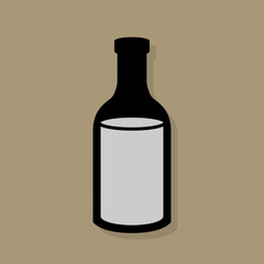 Bottle icon or sign, vector
