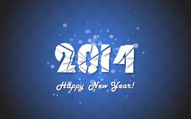 Happy new year 2014 text design.