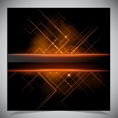 Smooth colorful abstract techno background