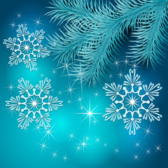 Vector Blue Christmas Holiday BackGround
