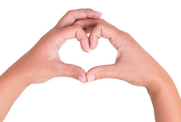 two hand heart