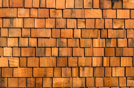 Cedar wood shake roofing
