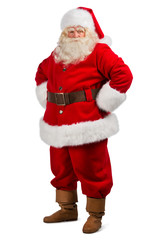 Santa Claus standing isolated