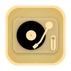 Vinyl player vintage icon