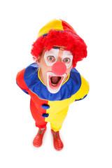 Portrait Of A Shocked Clown