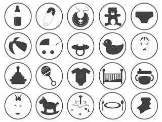 Baby Icons Vector Collection