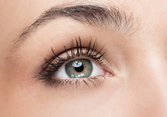Woman green eye